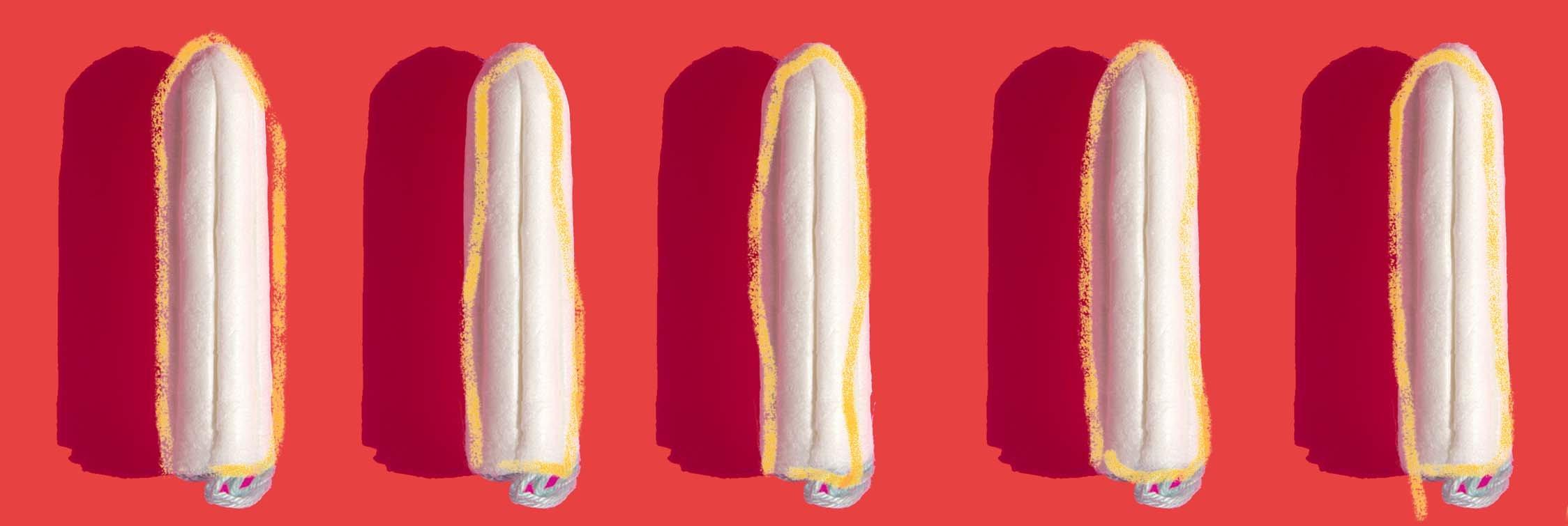 Tampons met gouden rand